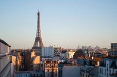 Bello tramonto a Parigi Fotografia Stock Libera da Diritti