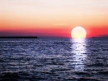 Bello tramonto rosso immagini stock
