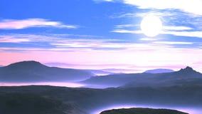 Bello tramonto sopra Misty Hills video d archivio