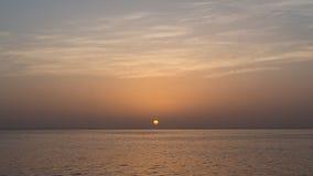 Bello tramonto su golf del Messico Immagine Stock