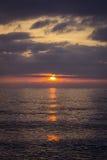 Bello tramonto sul mare di estate Fotografia Stock Libera da Diritti