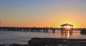Bello tramonto sull'isola di Key West Immagine Stock Libera da Diritti