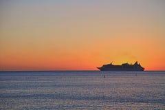 Bello tramonto sull'isola di Key West Fotografie Stock Libere da Diritti