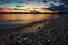 Bello tramonto sull'oceano Pacifico - HDR Immagini Stock Libere da Diritti