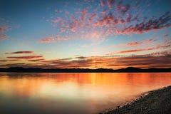Bello tramonto sull'oceano Pacifico - HDR Fotografia Stock
