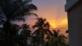 Bello tramonto a Varadero, Cuba Immagine Stock Libera da Diritti