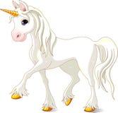 Bello unicorno bianco Immagine Stock