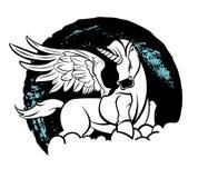 Bello unicorno di magia di vettore Fotografia Stock Libera da Diritti