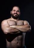 Bello uomo del muscolo Fotografia Stock Libera da Diritti