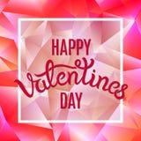 Bello Valentine Card rosa impressionante Fotografie Stock