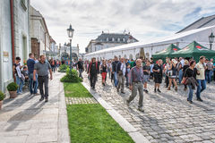 Bello vecchio mercato del centro città Fotografie Stock Libere da Diritti
