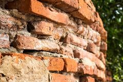 Bello vecchio muro di mattoni per fondo Fotografie Stock Libere da Diritti