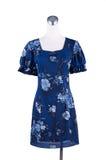 Bello vestito blu dal modello delle donne sul manichino Fotografia Stock Libera da Diritti