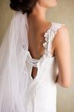 Bello vestito da cerimonia nuziale Immagine Stock Libera da Diritti