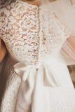 Bello vestito da cerimonia nuziale Fotografia Stock Libera da Diritti