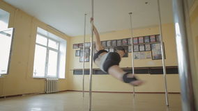 Bello video del metraggio delle azione dello studio di ballo di Palo della ragazza video d archivio