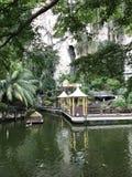 Bello villaggio dell'acqua in Malesia immagini stock