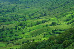 Bello villaggio indiano scenico Satara Immagini Stock