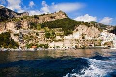 Bello villaggio ripido di Amalfi fotografia stock libera da diritti