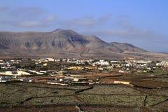Bello villaggio su Fuerteventura, isole Canarie Fotografie Stock