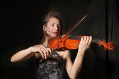 Bello violinista Immagine Stock