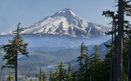 Bello Vista del cappuccio del supporto nell'Oregon, S.U.A. Immagini Stock Libere da Diritti