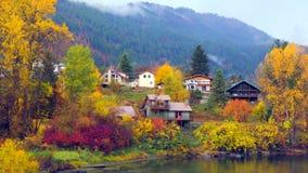 Bello Washington Autumn Nature Scenery - parco di lungomare, Leavenworth immagini stock