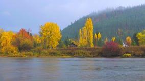 Bello Washington Autumn Nature Scenery - parco di lungomare, Leavenworth fotografie stock libere da diritti
