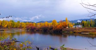 Bello Washington Autumn Nature Scenery - parco di lungomare, Leavenworth immagine stock