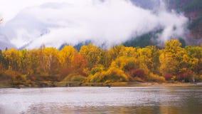 Bello Washington Autumn Nature Scenery - parco di lungomare, Leavenworth fotografia stock libera da diritti