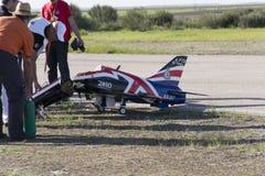 Bellota喷气机2013 t45模型崩溃 库存图片