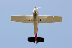 Bellow Propeller Plane Royalty Free Stock Images