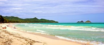 Bellow's Beach - Oahu Stock Images