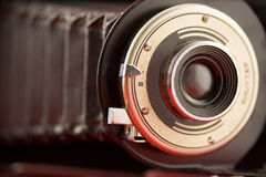 bellows den gammala kameran Arkivbilder