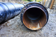 Bellows expansion (inside the pipe) Stock Photography