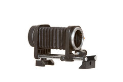 Bellows, Macro. Camera bellows used for macro and ultra close up photography Stock Photography