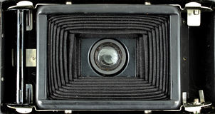 The bellows of a medium format film folding camera Royalty Free Stock Photo