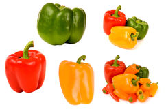 Bellpepper collection isolated Royalty Free Stock Photo