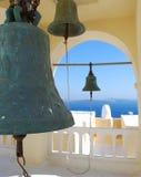 Bells. Photo of bells at greek church, Santorini island, Greece Stock Photos