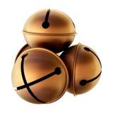 Bells. 3d render - copper bells on white Royalty Free Stock Image