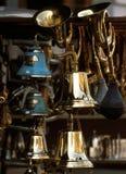 Bells. In Portobello Flea Market royalty free stock images