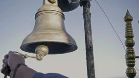 Bells on Adam`s Peak, Sri Lanka. Holy Mountain stock footage