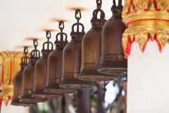 Bells in an ancient Buddhist temple Royalty Free Stock Photos