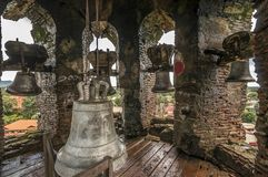 Bells of bantay tower Royalty Free Stock Photos