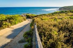 Bells beach lookout on the Great Ocean Road in Australia Stock Photos