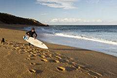 Bells Beach Surfer Stock Image