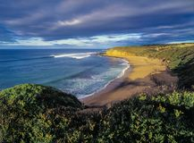 Uncrowded Bells Beach, Torquay, Victoria, Australia, early morning royalty free stock images