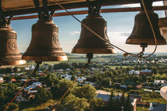 Bells on the bell tower Royalty Free Stock Images