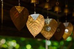 Bells, bells, Bodhi leaf Stock Image