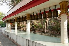 Bells at Big Buddha Hill temple, Pattaya. Royalty Free Stock Photo